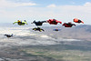 Wingsuits Over Utah 2010 : Wings near the Great Salt Lake.